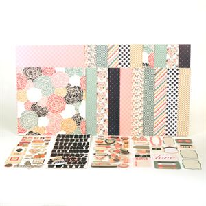 Picture of August Rosey Posey Paper Collection Kit